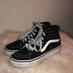 Kids Hightop Black & White Vans
